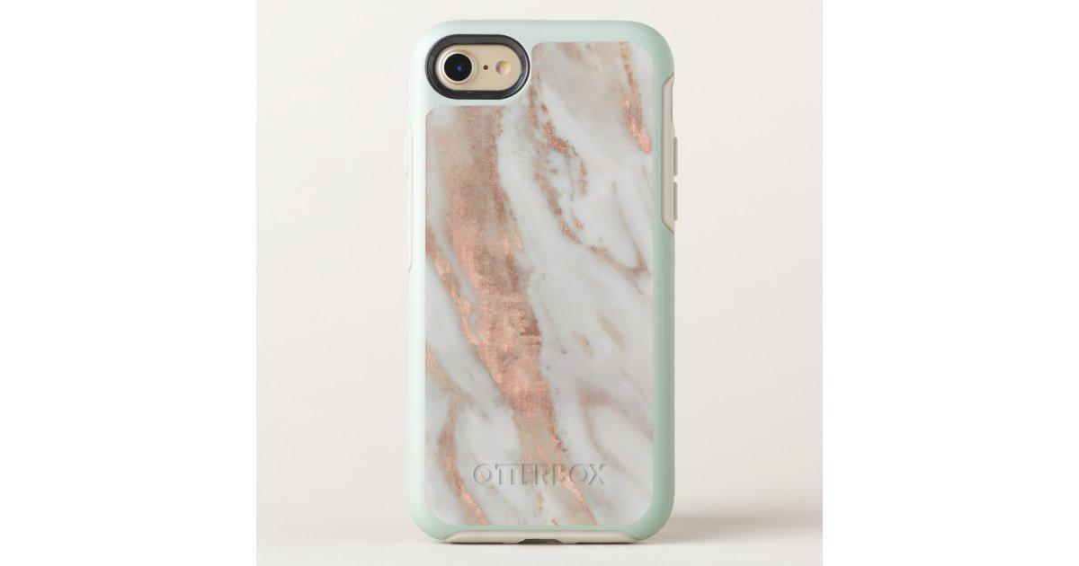 Stylish Rose Gold Elegant White Marble Otterbox Iphone Case Zazzlecom