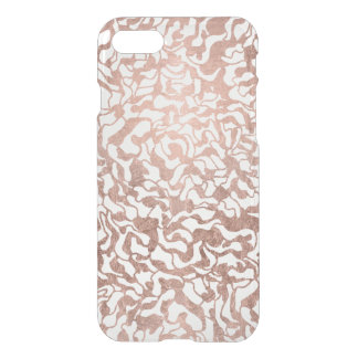 Stylish rose gold geometric hand drawn pattern iPhone 8/7 case