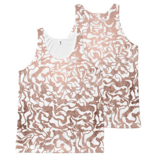 Stylish rose gold geometric modern pattern All-Over-Print tank top