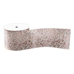 Stylish rose gold geometric modern pattern grosgrain ribbon