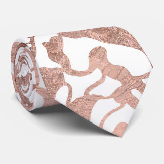 Stylish rose gold geometric modern pattern neck tie