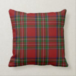 "Stylish Royal Stewart Tartan Plaid Pillow<br><div class=""desc"">Stylish tartan plaid accent pillow,  done in the red,  blue,  green,  yellow,  and white Scottish Royal Stewart pattern.  Customize to add text to this colorful pillow.  The back of the pillow is the same tartan plaid design as the front.  Makes a great gift idea.</div>"