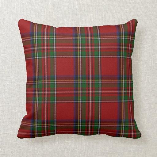 Stylish Royal Stewart Tartan Plaid Pillow