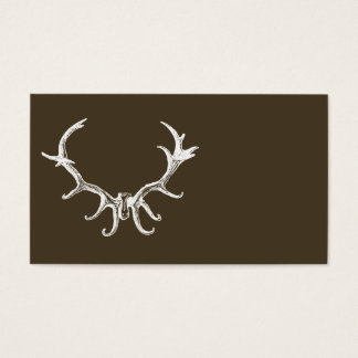 Stylish Rustic Hunting Deer Antler Retro Stag Business Card