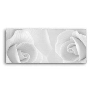 Stylish Sassy Trendy White Rose Envelopes