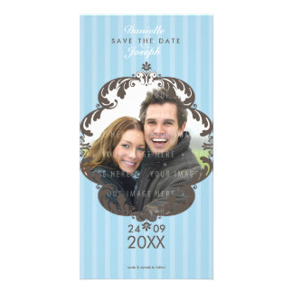 STYLISH SAVE THE DATE CARD :: flourish deluxe 1