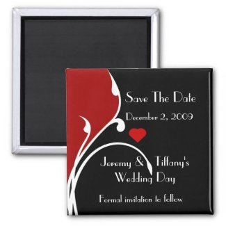 Stylish Save the Date Magnet magnet