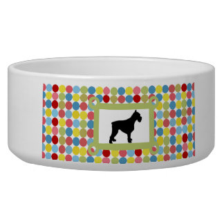 Stylish Schnauzer Dog Food Bowl