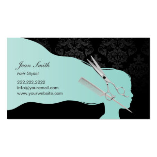 Stylish Scissor & Comb Hair Stylist Appointment Business Card