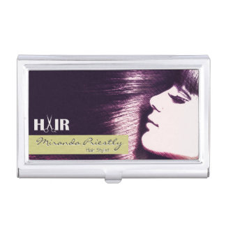 Stylish Scissors & Comb Hair Stylist Business Card Holder