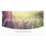 Stylish Script Custom Cover image Photography Business Cards