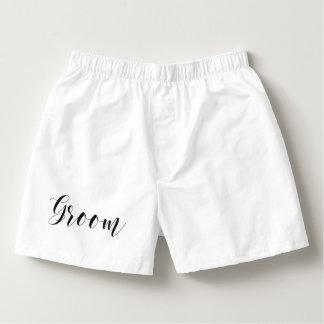 Stylish Script Groom Boxers