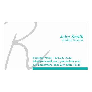 Stylish Script Political Scientist Business Card