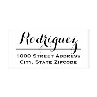 Stylish Script | Return Address Rubber Stamp