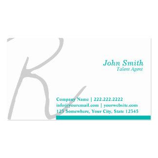 Stylish Script Talent Agent Business Card