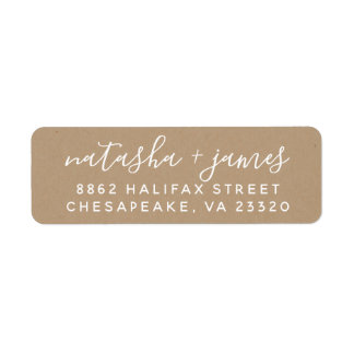 Stylish Script Wedding Return Address Labels