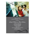 Stylish Scrolls Rehearsal Dinner or Wedding Shower Custom Invitation