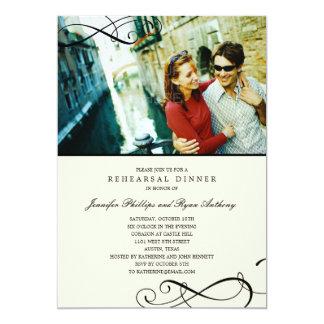 Stylish Scrolls Rehearsal Dinner /Wedding Shower Card