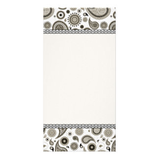 Stylish Sea Green paisley pattern Card