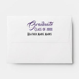 Stylish Shades of Purple Strokes Interior Artwork Envelope