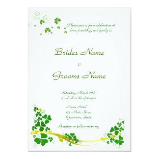 Stylish Shamrock Wedding Invitation