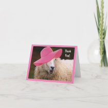 Stylish Sheep Thank You Card