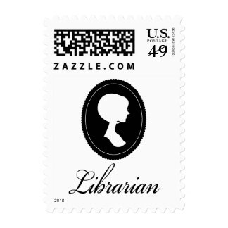 Stylish Silhouette Librarian Gift Stamps