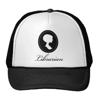 Stylish Silhouette Librarian Gift Trucker Hat