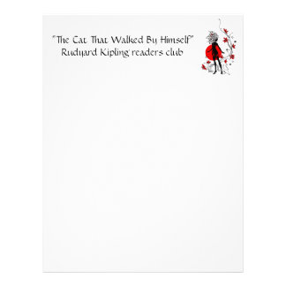 Stylish silhouette of elegant woman with sweet cat letterhead