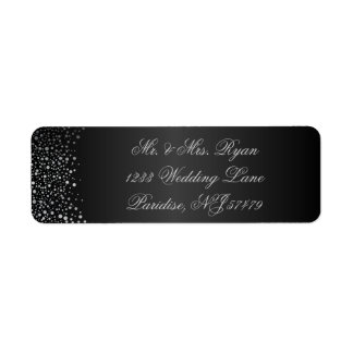 Stylish Silver Confetti Dots | Sheen Black Label