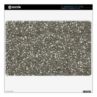 Stylish Silver Glitter Decal For MacBook Air