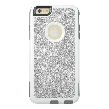 Stylish Silver Glitter Elegant White OtterBox iPhone 6/6s Plus Case
