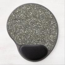 Stylish Silver Glitter Gel Mouse Pad