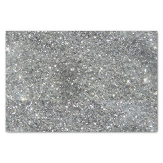 """Stylish Silver Glitter Glitz 10"""" X 15"""" Tissue Paper"""