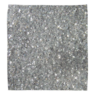Stylish Silver Glitter Glitz Bandana