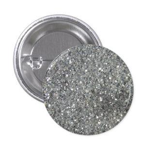 Stylish Silver Glitter Glitz Photo Button