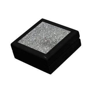Stylish Silver Glitter Glitz Photo Keepsake Box