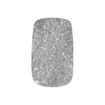 Stylish Silver Glitter Glitz Photo Minx Nail Wraps