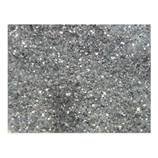 Stylish Silver Glitter Glitz Postcard