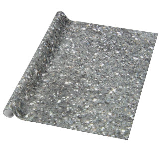 Stylish Silver Glitter Glitz Wrapping Paper