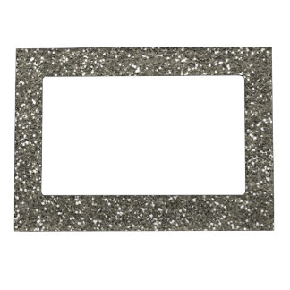 Stylish Silver Glitter Magnetic Photo Frame