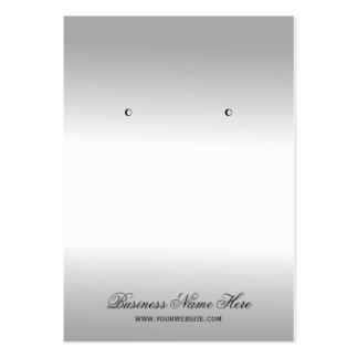 Stylish Silver Metallic Look Earring Display Cards Large Business Cards (Pack Of 100)
