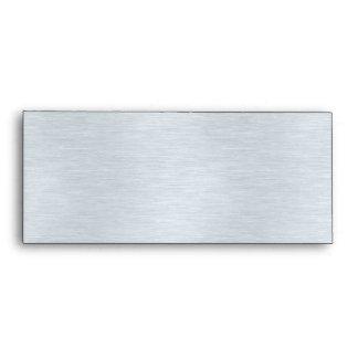 Stylish Silver Pink Faux Glitter Window Envelope