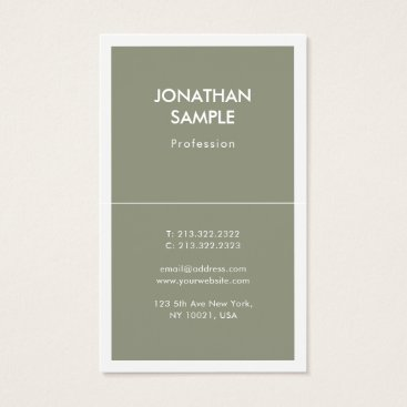 Stylish Simple Design Trendy Plain Luxury Modern Business Card