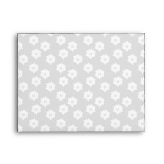 Stylish Simple Floral Pattern in Light Gray. Envelopes