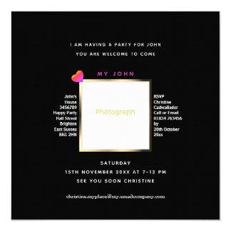 Stylish, Smart Invitation for John