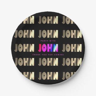 Stylish, Smart John Paper Plate
