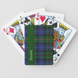 Stylish Smith Clan Tartan Plaid Playing Cards