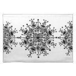 Stylish Snow Flakes Placemats