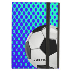 Stylish Soccer Ipad Air Case at Zazzle